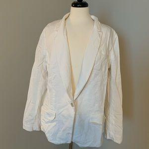 LOFT White linen style blazer